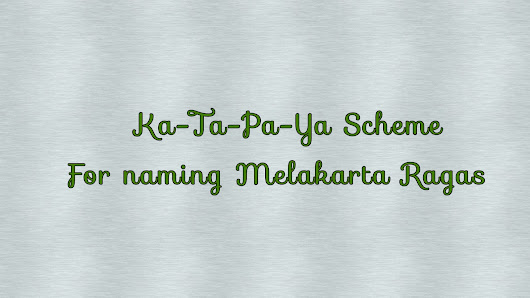 How to name Melakarta(janaka) Scale