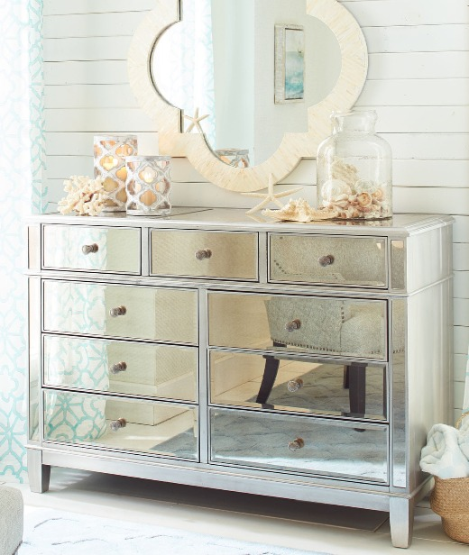 Mirrored Furniture for Coastal Style Living