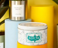 Logo Kusmi Tea: vinci gratis il nuovo tè Tropical White