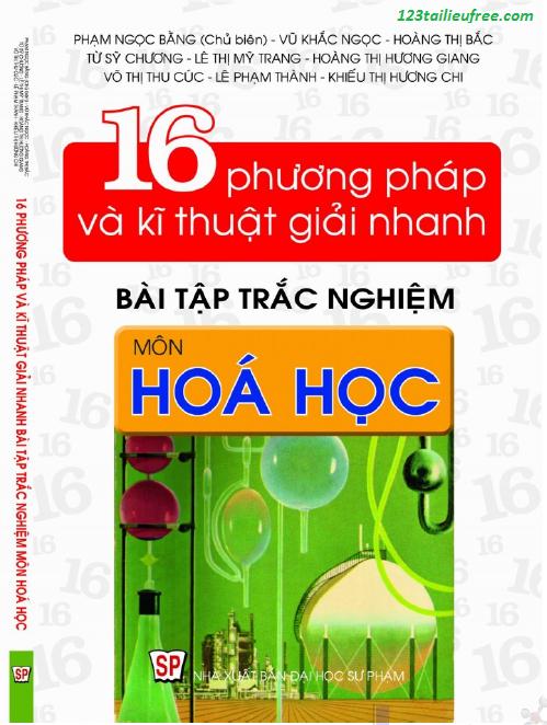 16 phương pháp và kỹ thuật giải nhanh bài tập trắc nghiệm và các công thức giải nhanh trắc nghiệm hóa học