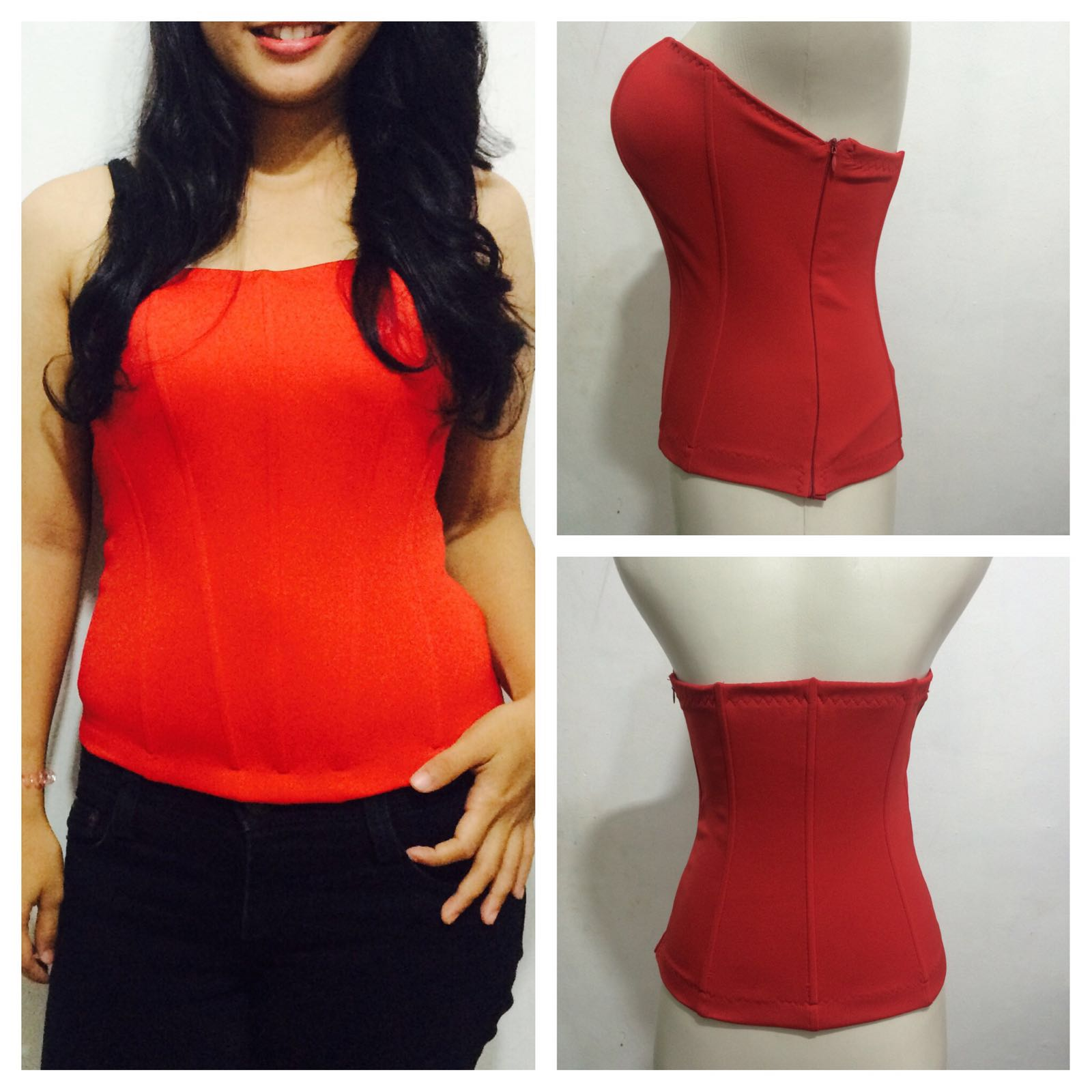 Bustier  jual lingerie murah basic tulang 8 plus cup polyester deb3fc4ad1