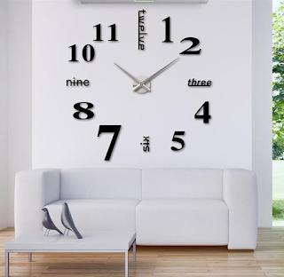 Jam dinding ruang tamu minimalis modern dan berukuran jumbo