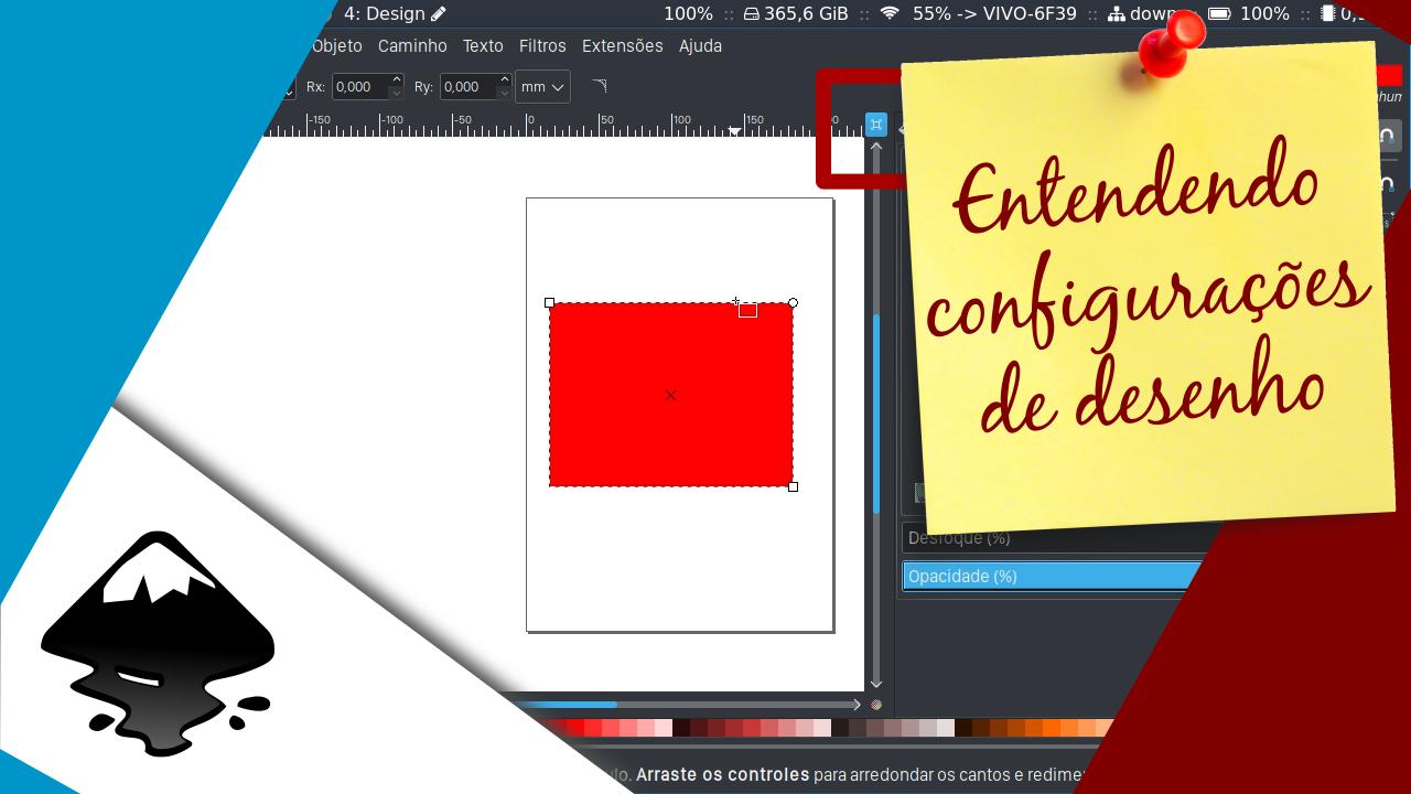 Problemas com configurações do Inkscape - Diário de bordo