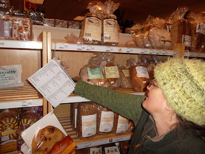 Cynthia Parkhill at bread isle at the Ashland Food Co-op