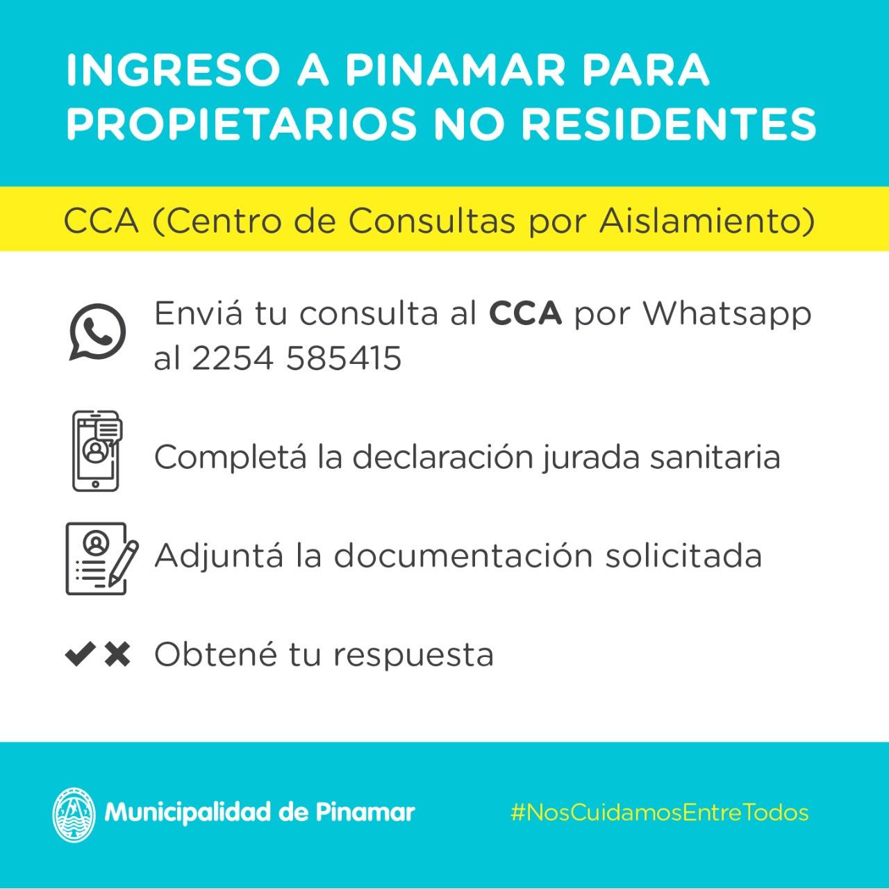 Ingreso a Pinamar para propietarios no residente