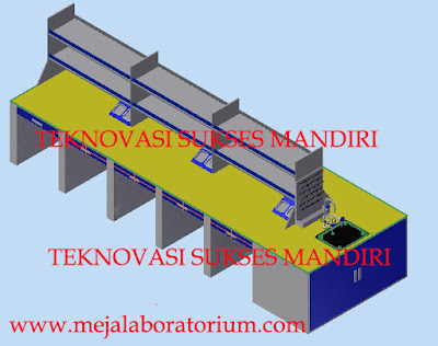 meja laboratorium island bench
