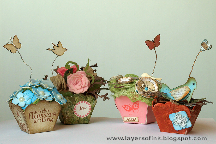 sizzix die cutting inspiration and tips four flowerpots