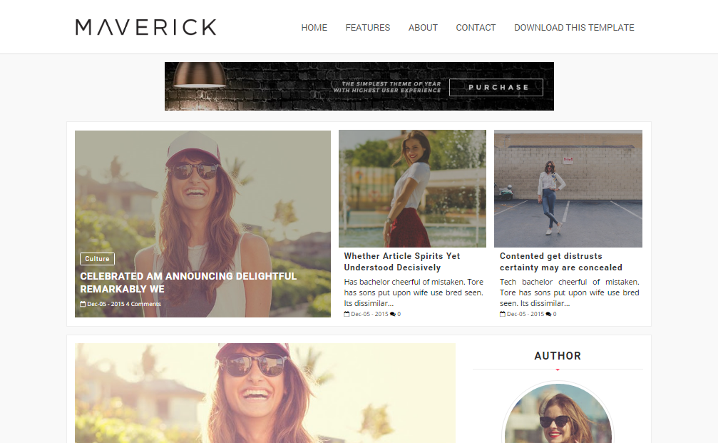 Maverick fashion blogger template high quality free blogger maverick blogger template pronofoot35fo Gallery