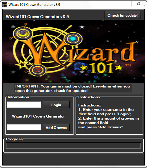 wizard101 crown generator v3