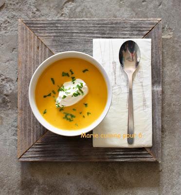 soupe de butternut curry
