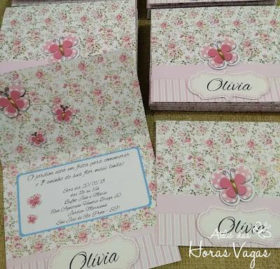 convite de aniversário infantil personalizado 1 aninho jardim encantado floral delicado vintage rosa borboletas passarinhos