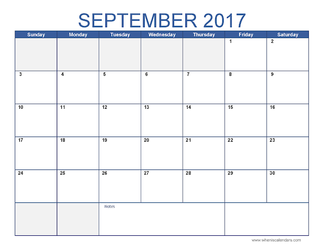 September 2017 Calendar, September 2017 Calendar Printable, September 2017 Calendar Holidays, September 2017 Calendar PDF, September 2017 Calendar Word