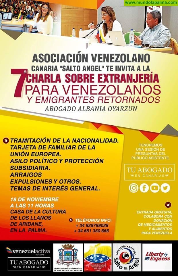 7 Charla sobre Extrangería para venezolanos y emigrantes retornados