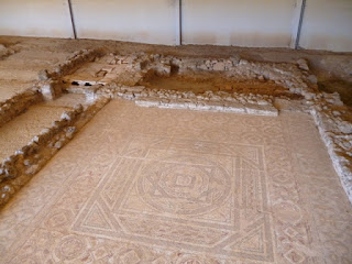 Mosaico de la zona termal