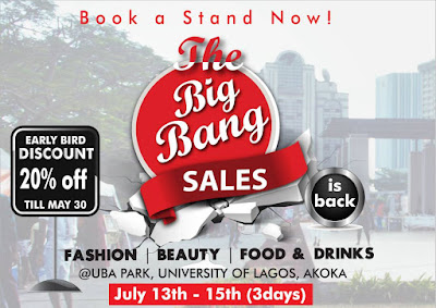 Nigeria's Discount Sales Festival ; The Big Bang Sales is Back this July...