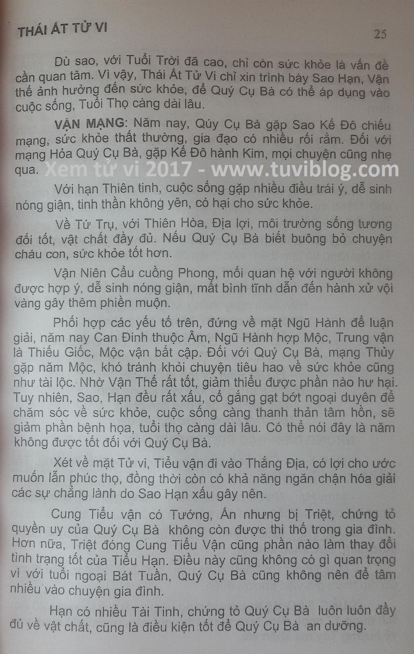 Tu vi 2017 tuoi Binh Ty
