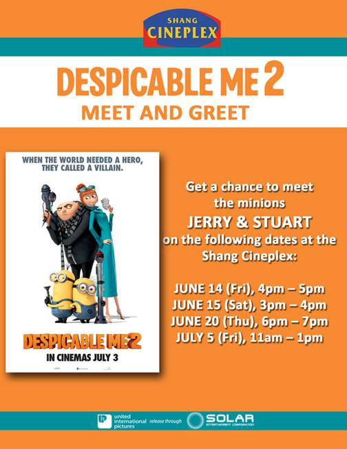 despicable me 2 meet and greet philippines