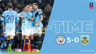Manchester City vs Burnley 5 - 0 Video Gol Highlights Piala FA
