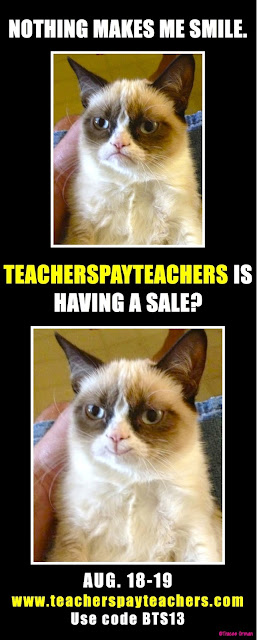 Nothing makes me smile...but a TeachersPayTeachers sale!