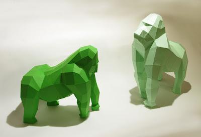 Green Pear Diaries, DIY, Wolfram Kampffmeyer, Paperwolf, esculturas de papel