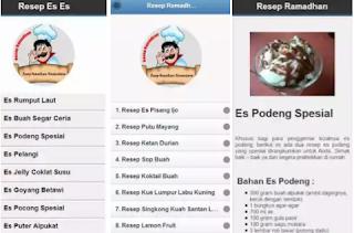 Aplikasi resep minuman ramadhan cocok di bulan puasa