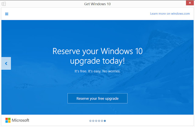Reserve Your Windows 10