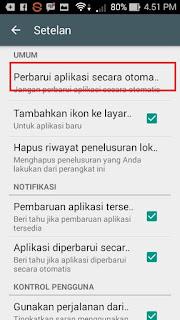 Cara Mematikan Update Aplikasi Otomatis Di Smartphone  Android