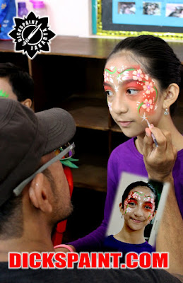face painting flowers kids jakarta