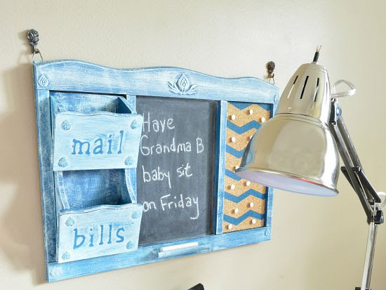 Upcycled Mail Sorter Family Command Center