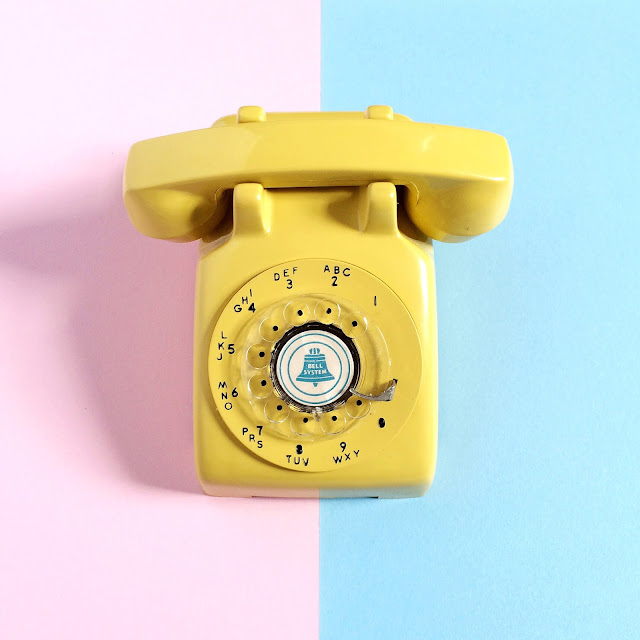 Vintage Yellow Phone by Vitamini
