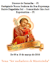 Convite e Programação do festejo de São José 2016