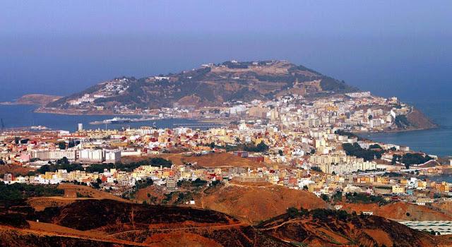 Vista do mirante Isabel II - Ceuta – Espanha