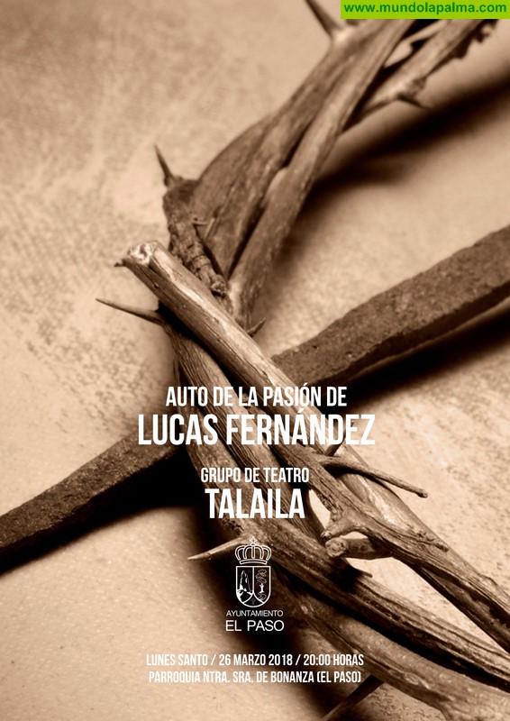 La Semana Santa de El Paso presenta el Auto de La Pasión del escritor renacentista Lucas Fernández