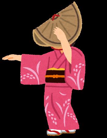 おわら風の盆のイラスト(女性)