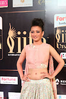 Akshara Haasan in Peachy Crop Top Choli Skirt at IIFA Utsavam Awards 41.JPG