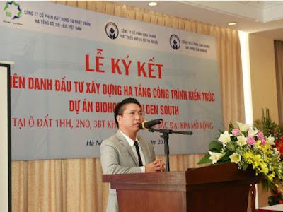 Chủ tịch HĐQT kiêm TGĐ BID Việt Nam phát biểu tại lễ ký kết