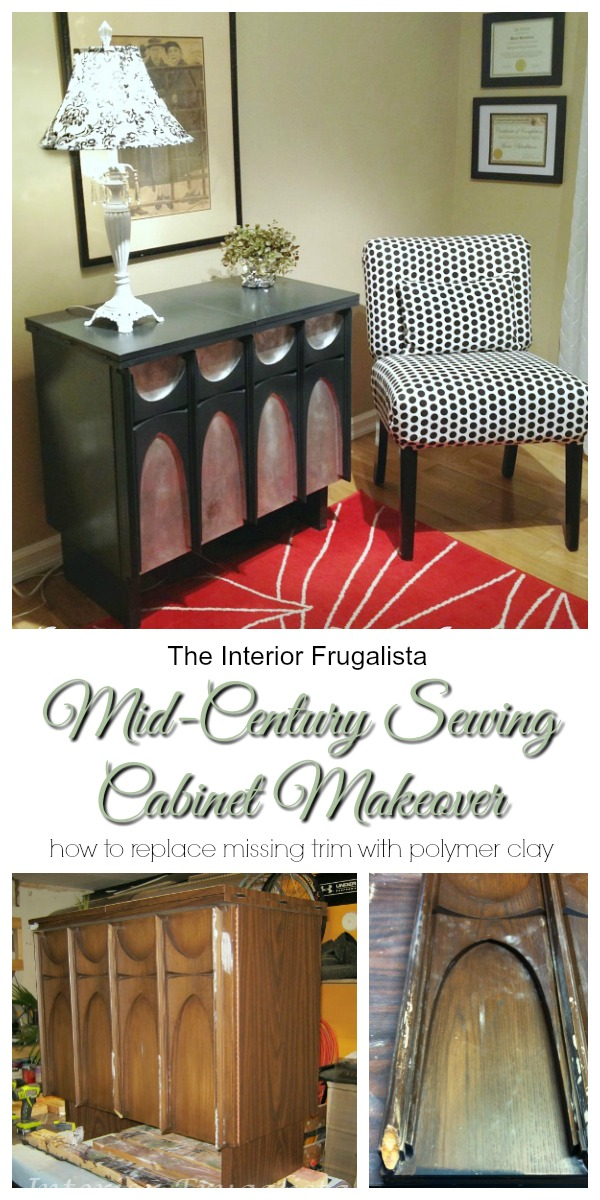 Mid Century Modern Sewing Cabinet Makeover