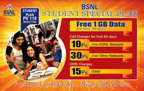 Student Special plan PV 118 with one year validity