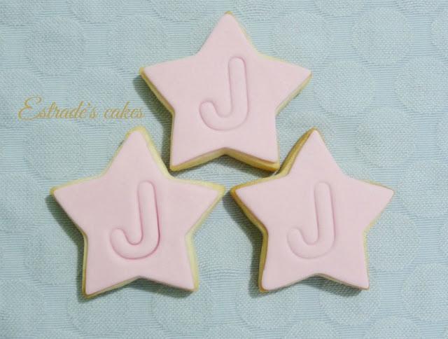 Galletas de estrellas con inicial 1