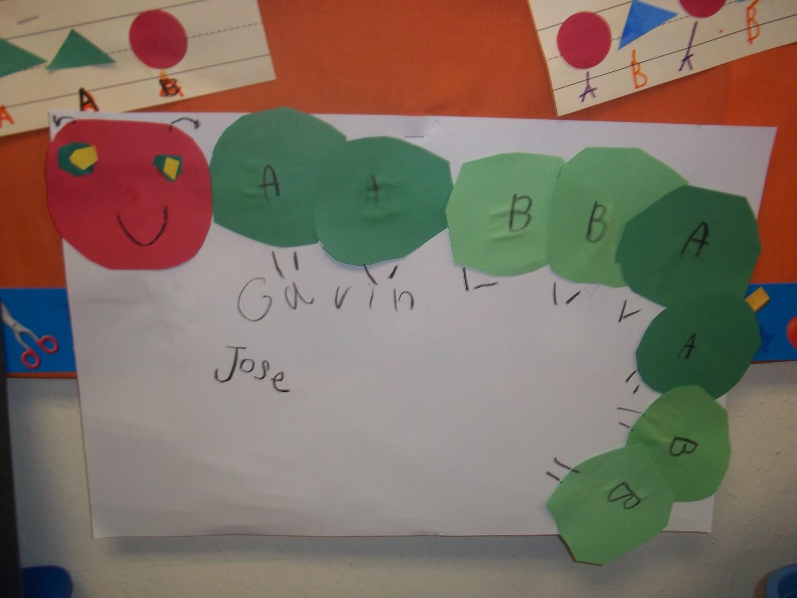 Kinder Garden: Mrs. Wood's Kindergarten Class: Caterpillar Patterns