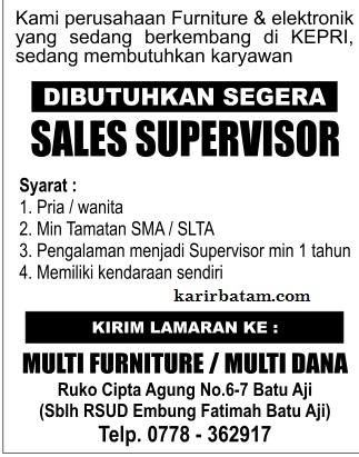 Lowongan Kerja PT. Multi Dana Furniture