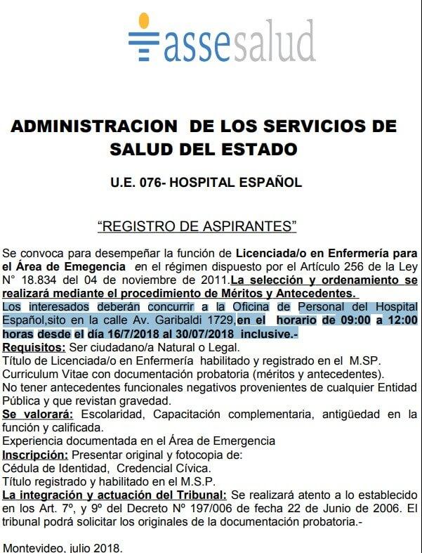 Licenciados en Enfermería 2018 Asse