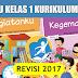 Buku Kurikulum 2013  Revisi 2017 Kelas 1 SD/MI Semester 2
