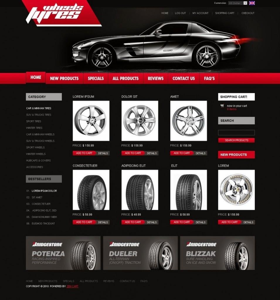thiết kế web bán phụ tùng
