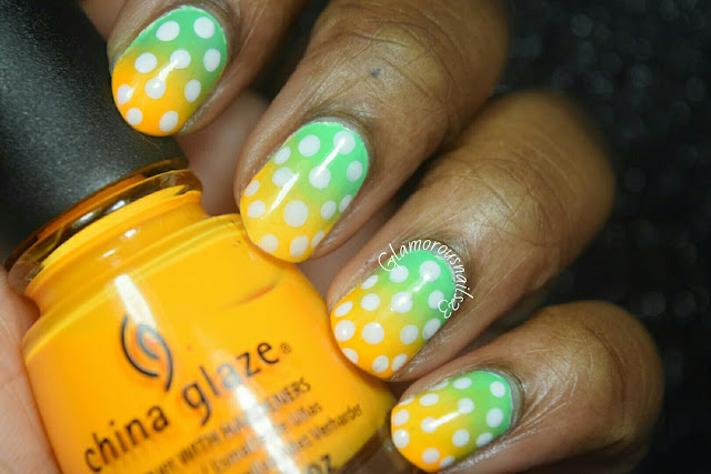 Gradients & Dots Nail Art