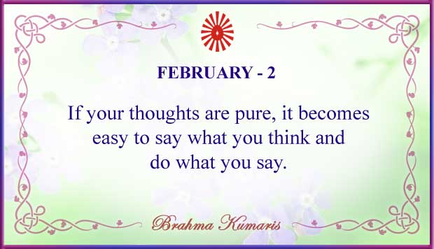 Thought For The Day February 2