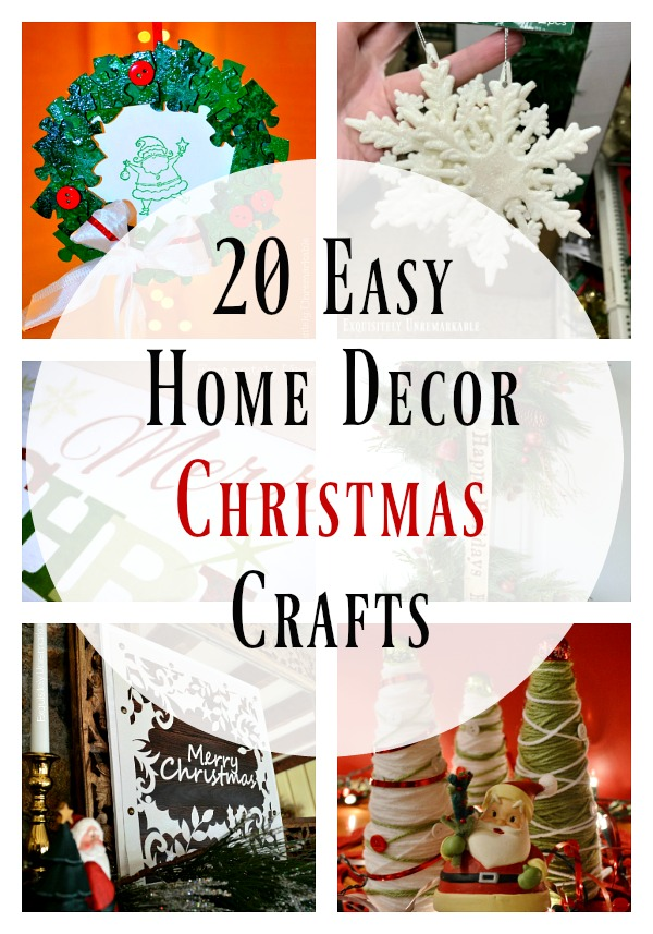 20 Easy Home Decor Christmas Crafts
