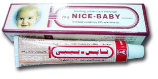 نايس بيبي للالتهابات الجلدية الناتجة عن حفاضات الاطفال