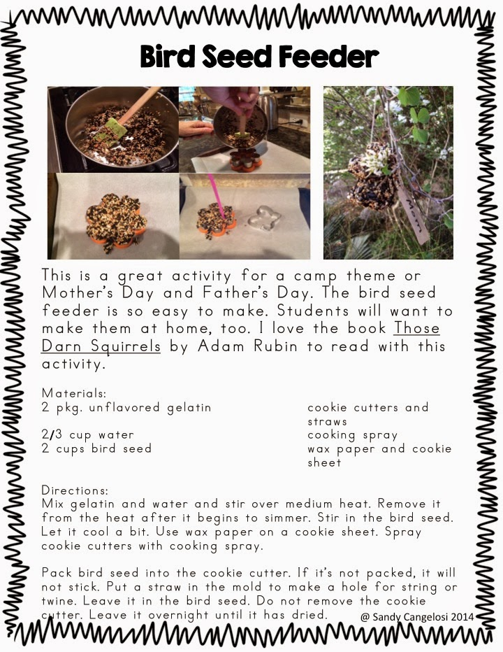 In this blog post, I've provided 6 different outdoor activities for Earth Day. (Bird Feeder)