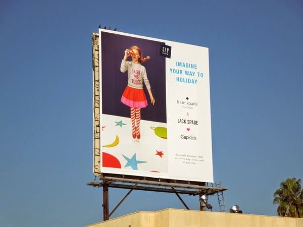 Gap Kids Kate Jack Spade Imagine Holiday billboard